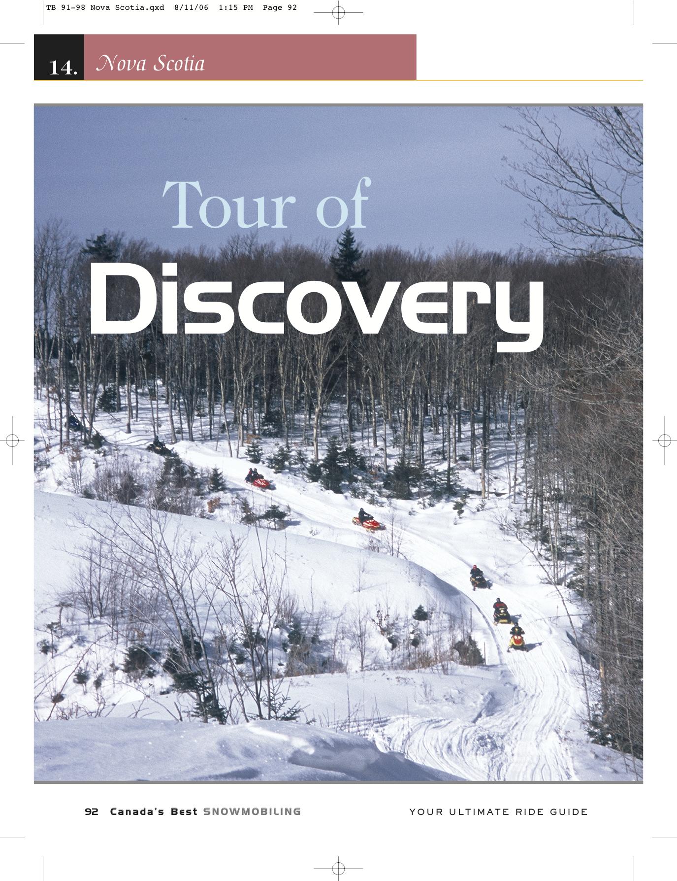 Snowmobile Nova Scotia Canada Tour Planner