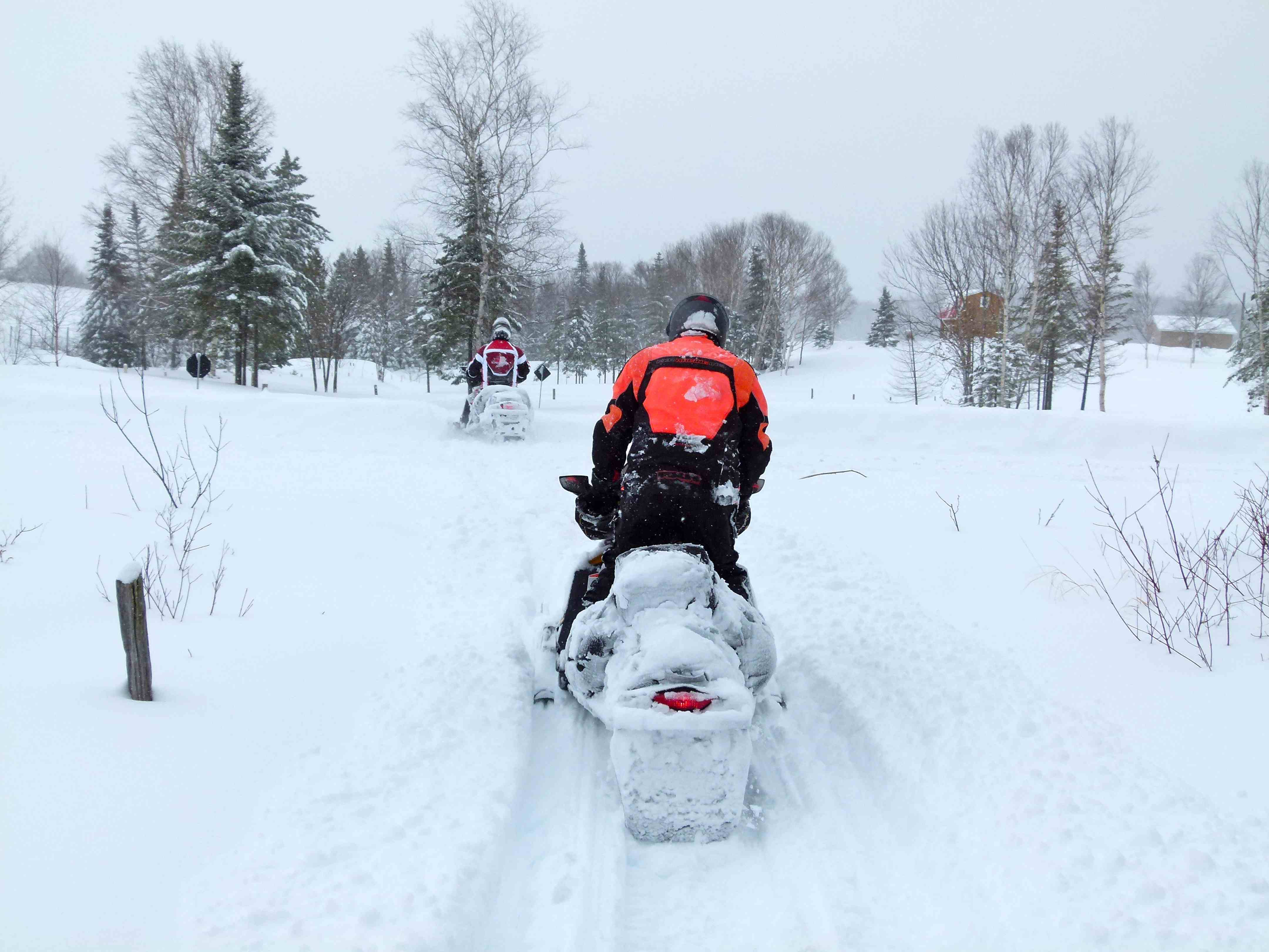 Snowmobile Pathfinding Heavy Snow Tips