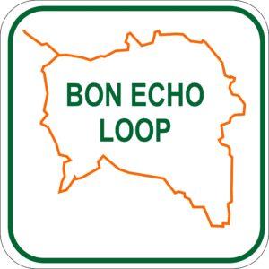 snowmobile bancroft ontario Bon Echo Loop_sign