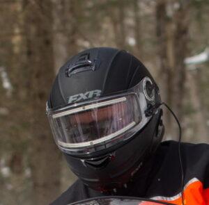 Snowmobile heated shield hook up