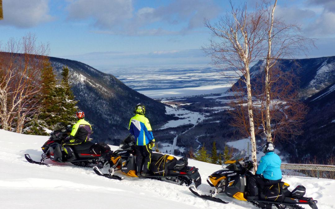 Gaspésie Quebec March Snowmobile Tour