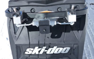 Removable Snowmobile Hitch Adds Tow Capability