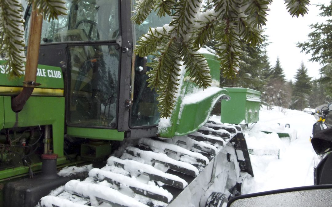 Meeting Snowmobile Trail Groomers